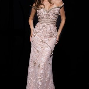 Jovani special occasion dress 53037 champagne